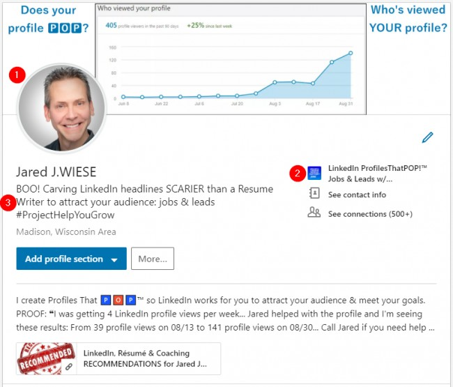 LinkedIn #TipsThatPOP for Profiles That POP!™ - Jared J  WIESE