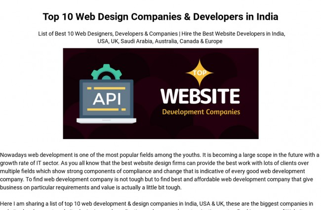 Top Mobile & Web Application Developers
